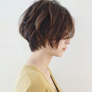 ナチュラル グラデーションカラー ショート バレイヤージュ ヘアスタイルや髪型の写真・画像 ヘアスタイルや髪型の写真・画像