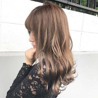 秋 上品 ハイライト 透明感 ヘアスタイルや髪型の写真・画像