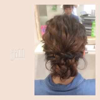 セミロング ヘアアレンジ 波ウェーブ ショート ヘアスタイルや髪型の写真・画像