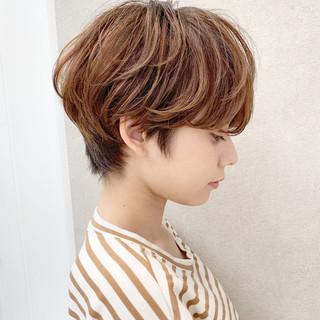 ショート アウトドア 簡単ヘアアレンジ モード ヘアスタイルや髪型の写真・画像