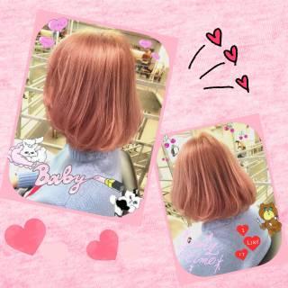 ガーリー ストリート レッド モテ髪 ヘアスタイルや髪型の写真・画像