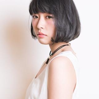 透明感 フェミニン リラックス ボブ ヘアスタイルや髪型の写真・画像