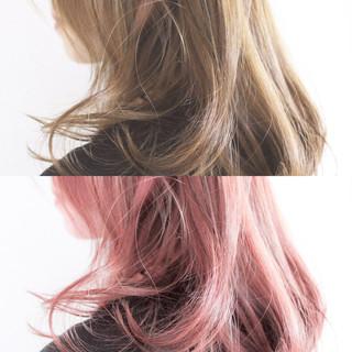 ピンク 大人女子 ナチュラル ロング ヘアスタイルや髪型の写真・画像
