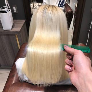 艶髪 ミディアム トリートメント ストレート ヘアスタイルや髪型の写真・画像
