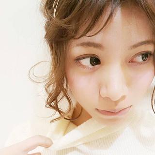 ヘアアレンジ ラフ ヘアピン ヘアアクセ ヘアスタイルや髪型の写真・画像 ヘアスタイルや髪型の写真・画像