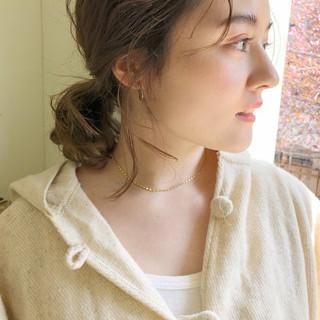 ガーリー ミディアム 大人かわいい ゆるふわ ヘアスタイルや髪型の写真・画像