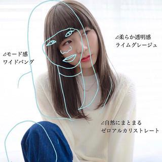 セミロング 前髪 髪質改善 ナチュラル ヘアスタイルや髪型の写真・画像