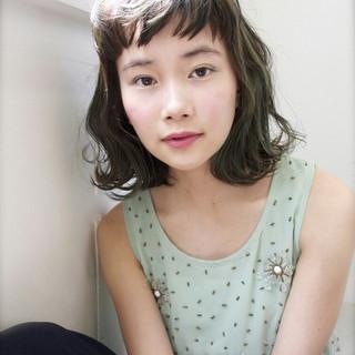 ハイライト アッシュ 外国人風 パーマ ヘアスタイルや髪型の写真・画像