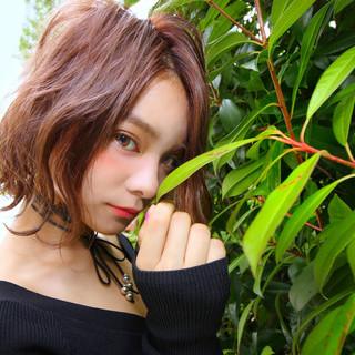 外ハネボブ フェミニン  ボブ ヘアスタイルや髪型の写真・画像 ヘアスタイルや髪型の写真・画像