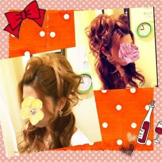 パーマ ゆるふわ コンサバ ポンパドール ヘアスタイルや髪型の写真・画像
