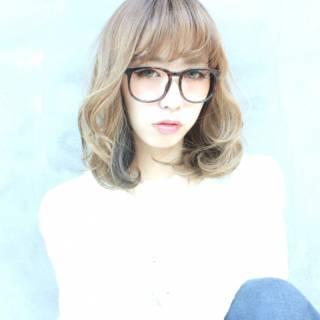 渋谷系 愛され ウェットヘア ナチュラル ヘアスタイルや髪型の写真・画像