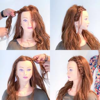 簡単ヘアアレンジ 色気 アウトドア 夏 ヘアスタイルや髪型の写真・画像