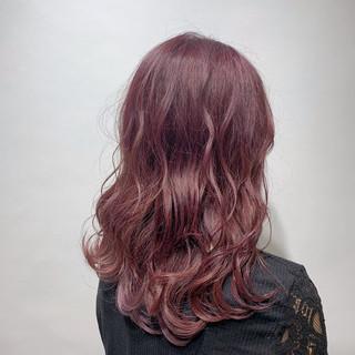 ピンクバイオレット ピンクラベンダー ガーリー 春ヘア ヘアスタイルや髪型の写真・画像