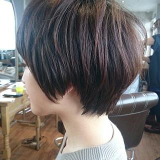 ショート ベリーショート マッシュ ニュアンス ヘアスタイルや髪型の写真・画像 ヘアスタイルや髪型の写真・画像