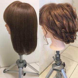 ヘアアレンジ パーティ セミロング 大人かわいい ヘアスタイルや髪型の写真・画像