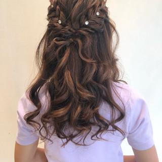 原宿系 結婚式 ナチュラル ヘアアレンジ ヘアスタイルや髪型の写真・画像