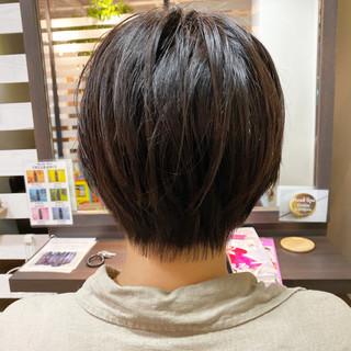 ミニボブ ショートヘアアレンジ ベリーショート ショート ヘアスタイルや髪型の写真・画像