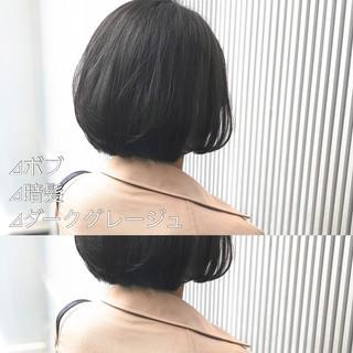 スモーキーカラー グレージュ ナチュラル アッシュ ヘアスタイルや髪型の写真・画像