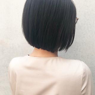 イメチェン ナチュラル ミニボブ 黒髪 ヘアスタイルや髪型の写真・画像