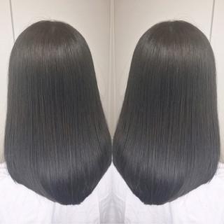ナチュラル アウトドア ミディアム 透明感 ヘアスタイルや髪型の写真・画像
