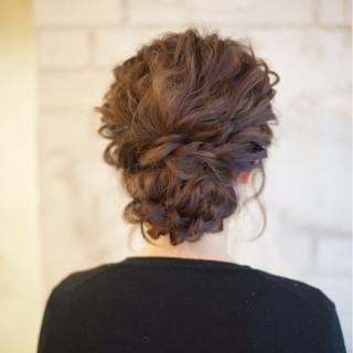 編み込み ショート セミロング 結婚式 ヘアスタイルや髪型の写真・画像