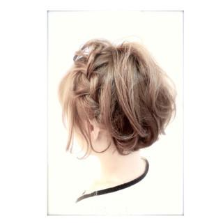 ショート ハーフアップ 簡単ヘアアレンジ ボブ ヘアスタイルや髪型の写真・画像