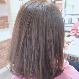 前下がりボブ フェミニン ミディアム ワンカール ヘアスタイルや髪型の写真・画像