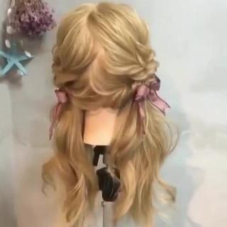 ツインテール ヘアアレンジ ガーリー パーティ ヘアスタイルや髪型の写真・画像