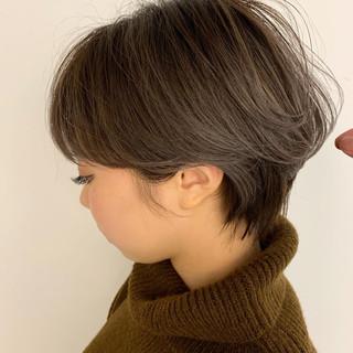耳掛けショート 小顔ショート アンニュイほつれヘア ナチュラル ヘアスタイルや髪型の写真・画像 ヘアスタイルや髪型の写真・画像