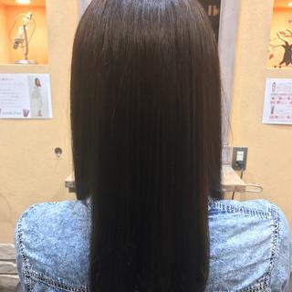 セミロング 外国人風カラー アッシュ ナチュラル ヘアスタイルや髪型の写真・画像