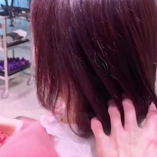 ナチュラル ピンクベージュ ピンクパープル イルミナカラー ヘアスタイルや髪型の写真・画像