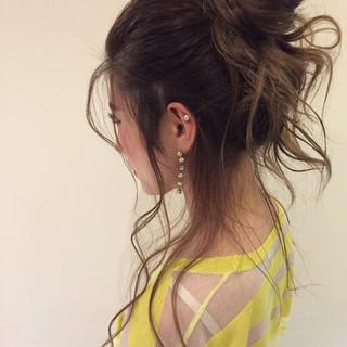 ショート ヘアアレンジ ゆるふわ 外国人風 ヘアスタイルや髪型の写真・画像