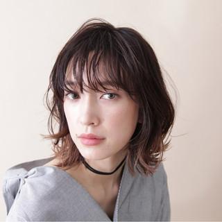 アッシュグレージュ グラデーションカラー ミディアム 外国人風カラー ヘアスタイルや髪型の写真・画像 ヘアスタイルや髪型の写真・画像