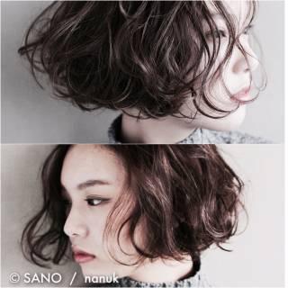 モード 抜け感 ボブ ウェットヘア ヘアスタイルや髪型の写真・画像