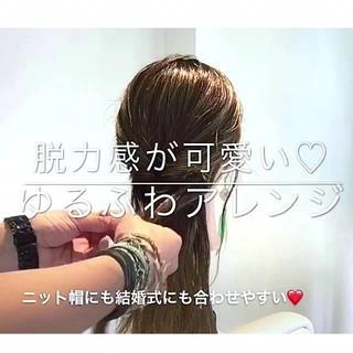 女子会 簡単ヘアアレンジ 上品 エレガント ヘアスタイルや髪型の写真・画像