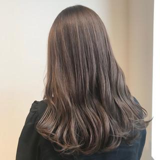透明感カラー ブリーチなし ミルクティーベージュ ベージュ ヘアスタイルや髪型の写真・画像