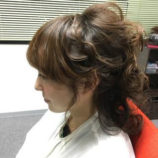 かわいい ミディアム ハーフアップ 外国人風 ヘアスタイルや髪型の写真・画像