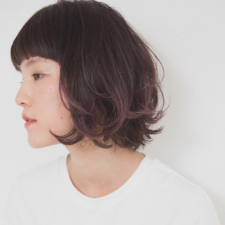 外国人風 ボブ ストリート ダブルカラー ヘアスタイルや髪型の写真・画像