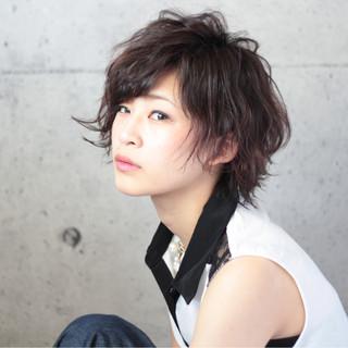アンニュイ 大人かわいい ショート ガーリー ヘアスタイルや髪型の写真・画像