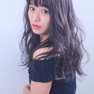 女子会 フェミニン ロング デート ヘアスタイルや髪型の写真・画像