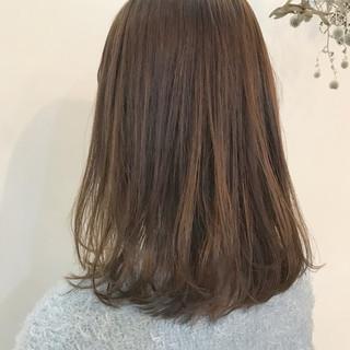 ワンカール 春 抜け感 ロブ ヘアスタイルや髪型の写真・画像