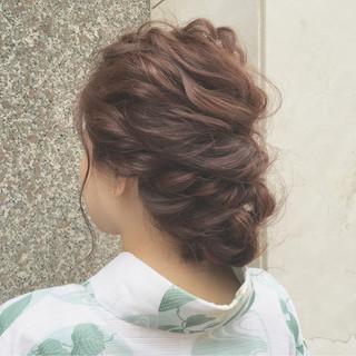 ヘアアレンジ 夏 大人かわいい お祭り ヘアスタイルや髪型の写真・画像