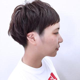 暗髪 ショート 前髪あり マッシュ ヘアスタイルや髪型の写真・画像 ヘアスタイルや髪型の写真・画像