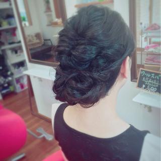 大人かわいい 編み込み 結婚式 ヘアアレンジ ヘアスタイルや髪型の写真・画像 ヘアスタイルや髪型の写真・画像