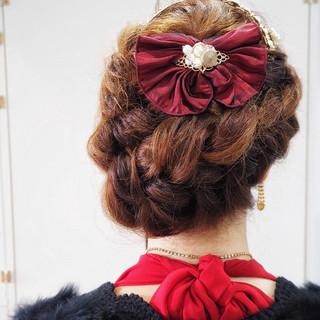 ロング 編み込み 三つ編み 簡単ヘアアレンジ ヘアスタイルや髪型の写真・画像 ヘアスタイルや髪型の写真・画像