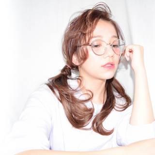 フェミニン シースルーバング ヘアアレンジ おフェロ ヘアスタイルや髪型の写真・画像