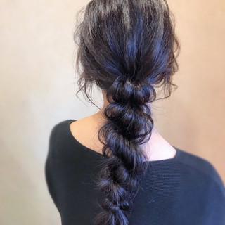 ヘアアレンジ 黒髪 ロング 謝恩会 ヘアスタイルや髪型の写真・画像