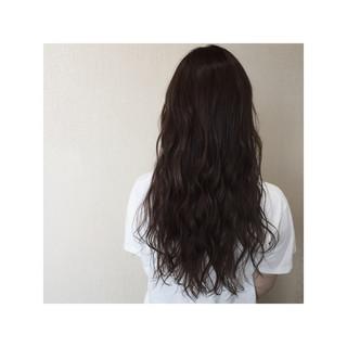 ガーリー フェミニン ロング ハイライト ヘアスタイルや髪型の写真・画像
