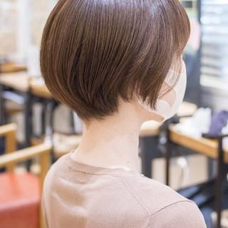 ショート アッシュベージュ ショートボブ マッシュショート ヘアスタイルや髪型の写真・画像