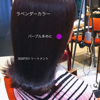 ナチュラル ミディアム 透明感カラー oggiotto ヘアスタイルや髪型の写真・画像